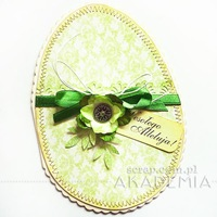 Kurs na kartkę wielkanocną w kształcie jaja/jajka